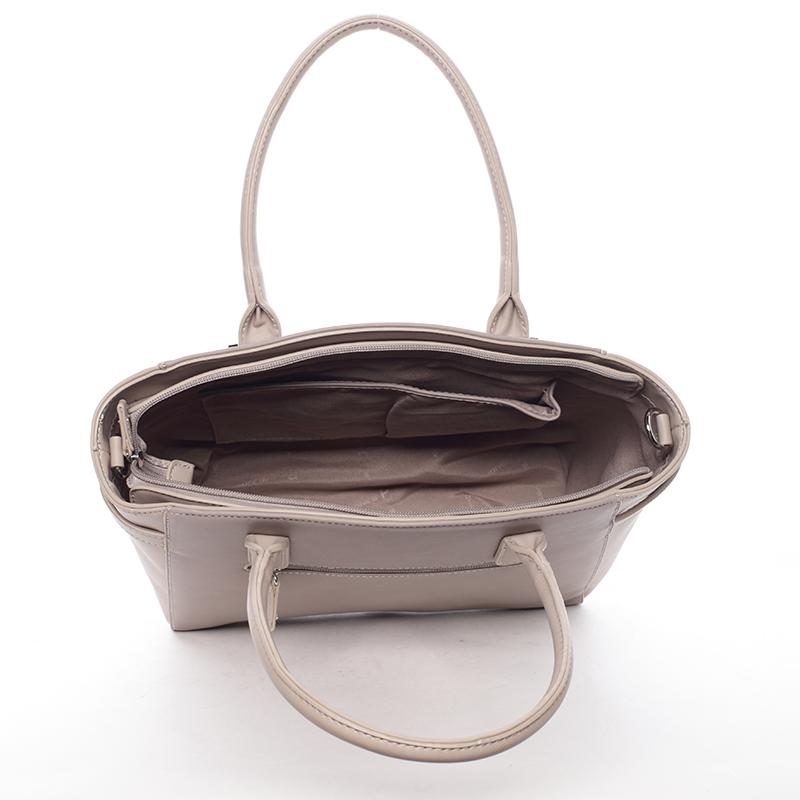 Stylová dámská kabelka do ruky i přes rameno Sasha, oříšková