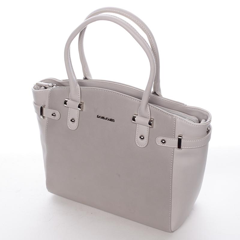 Stylová dámská kabelka do ruky i přes rameno Sasha, šedá