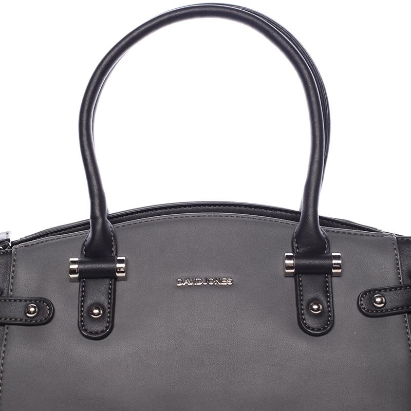 Stylová dámská kabelka do ruky i přes rameno Sasha, černo-šedá