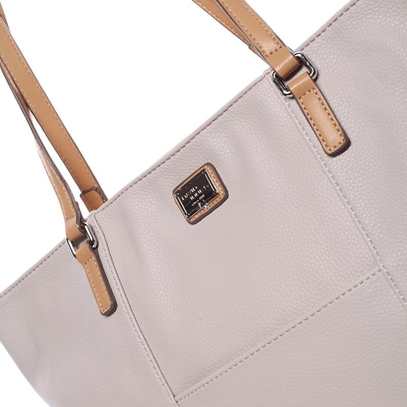 Dámská kabelka přes rameno Isabel, krémově šedá