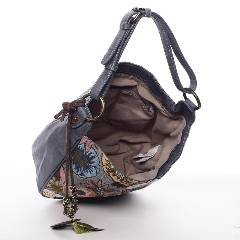 Dámská kabelka se vzory Ximena, modrá