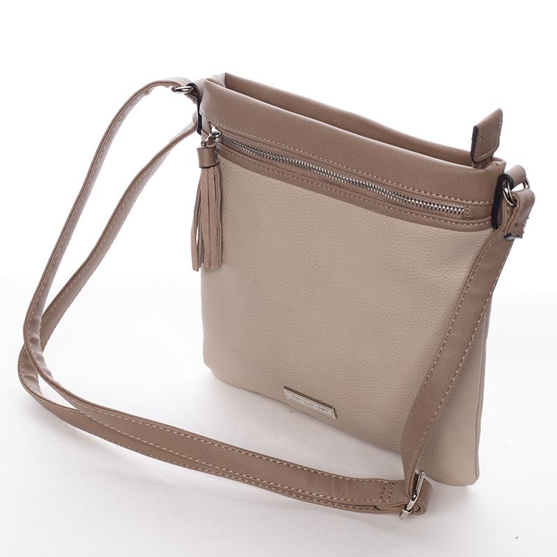 Crossbody kabelka Macy, tmavě béžová