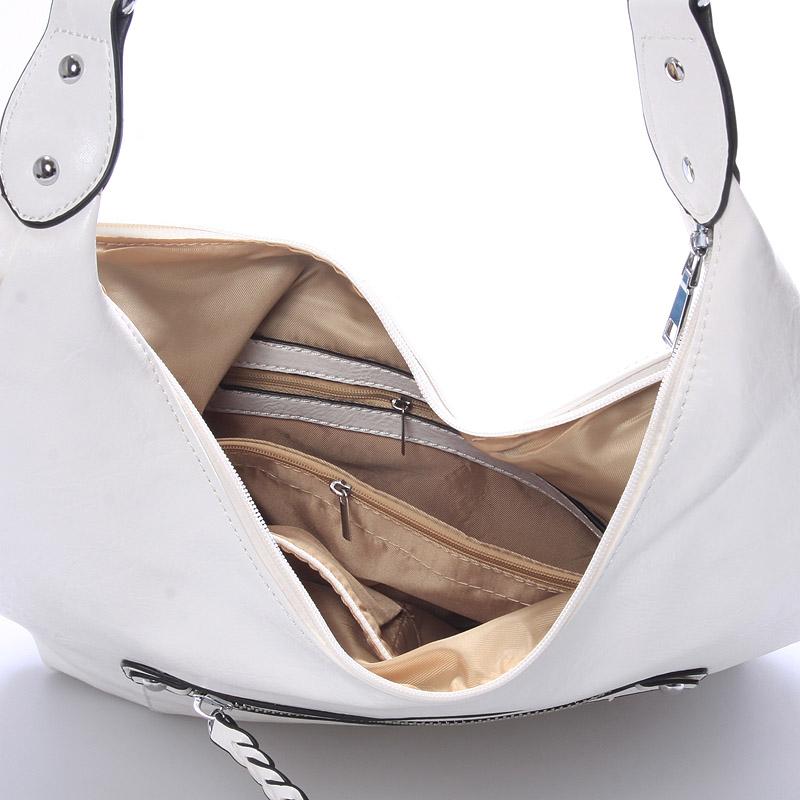 Trendy crossbody kabelka Damaris, bílá