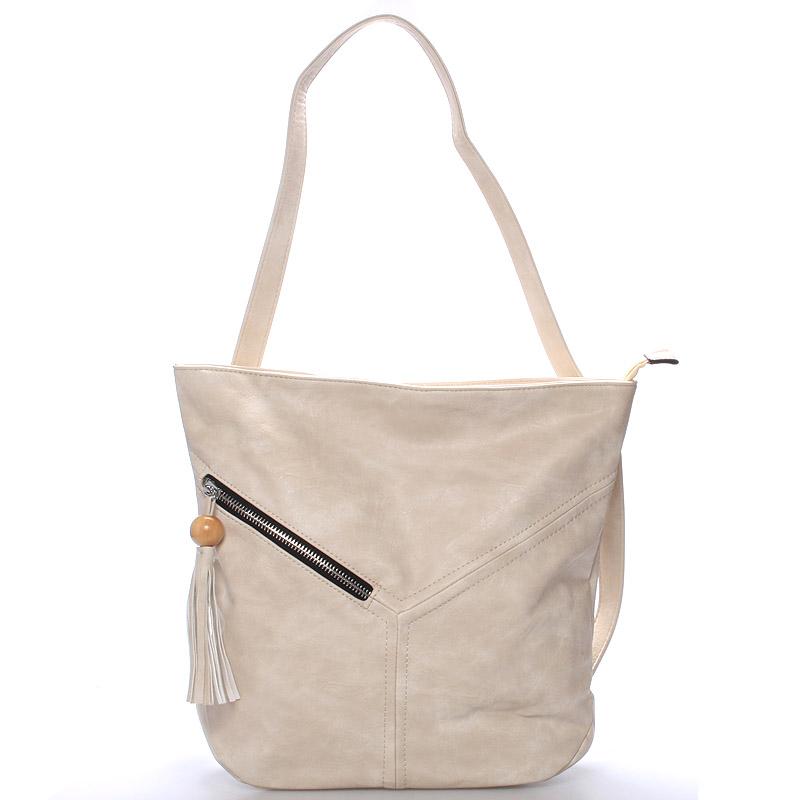 Dámská kabelka i batoh Danna, krémová