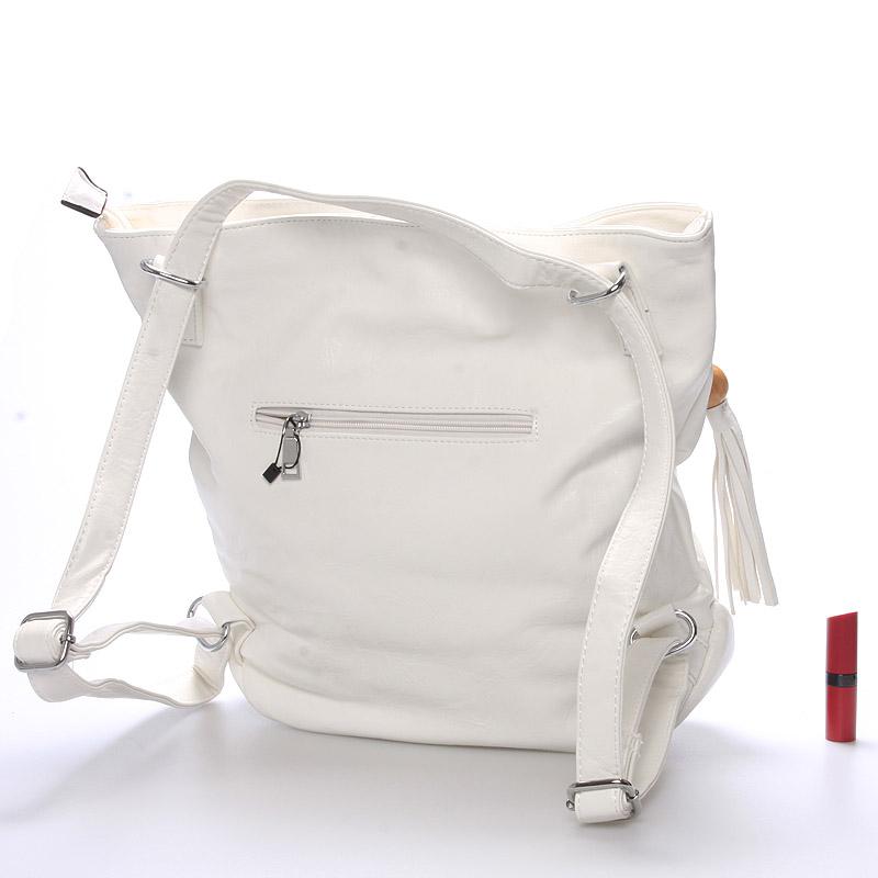 Dámská kabelka i batoh Danna, bílá