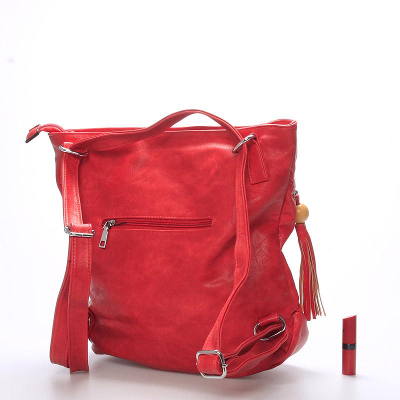 Dámská kabelka i batoh Danna, červená