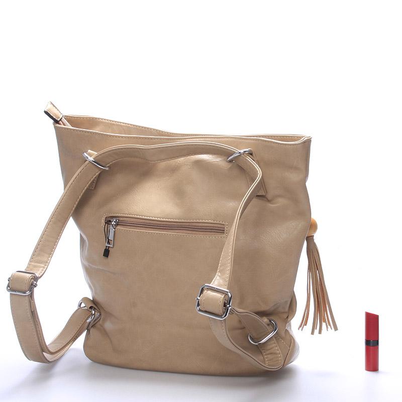Dámská kabelka i batoh Danna, oříšková
