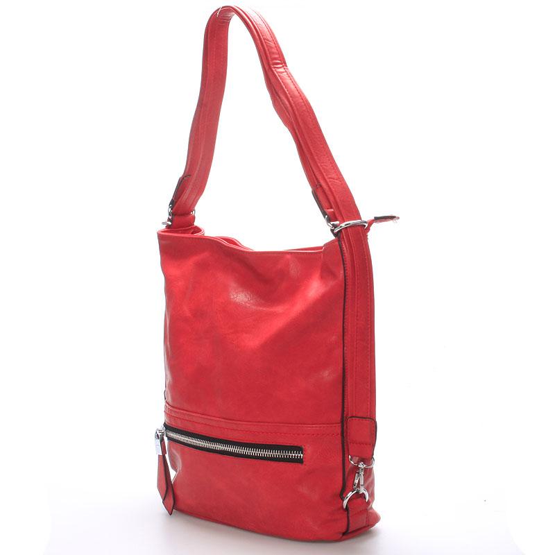 Trendy crossbody kabelka Mina, červená