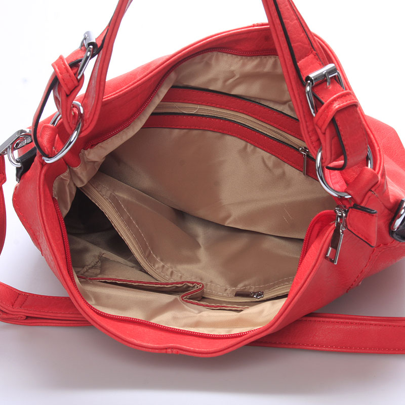 Dámská crossbody kabelka Crystal, červená
