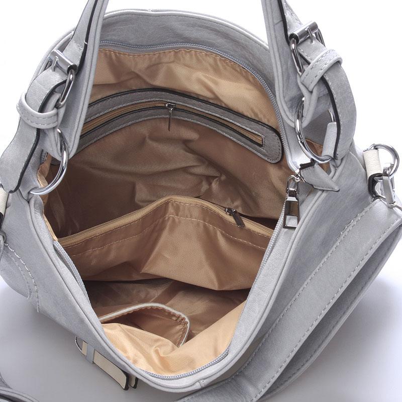 Dámská crossbody kabelka Crystal, šedá