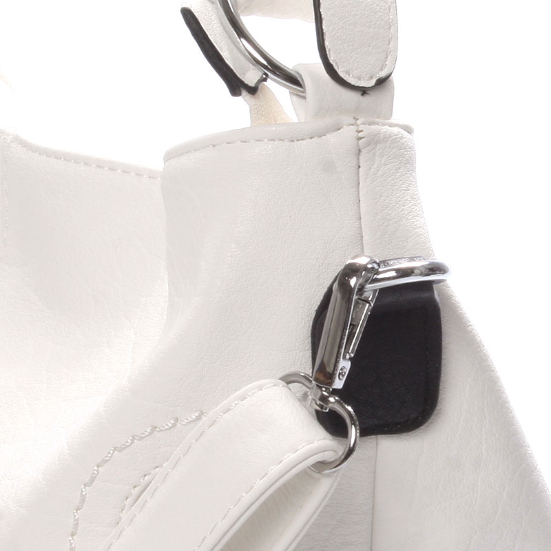 Dámská crossbody kabelka Crystal, bílá