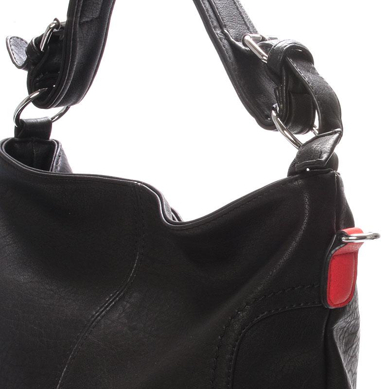 Dámská crossbody kabelka Crystal, černo - červená
