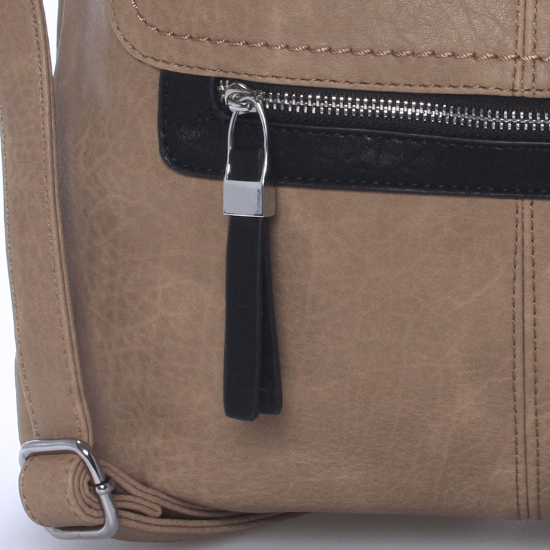Dámská crossbody kabelka Crystal, tmavě béžová