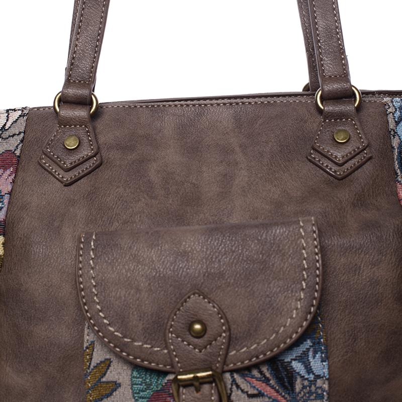 Trendová kabelka přes rameno Sabrina, oříšková