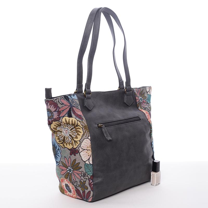 Trendová kabelka přes rameno Sabrina, černo-šedá