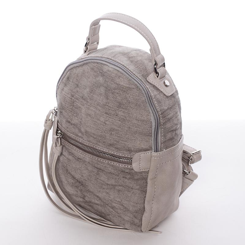 Krásný dámský batůžek Unique, šedý