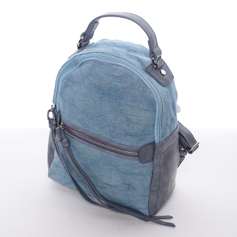 Krásný dámský batůžek Unique, modrý