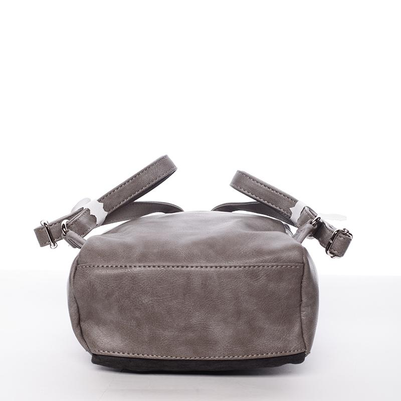 Krásný dámský batůžek Unique, černo-šedý