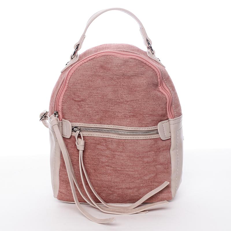 Krásný dámský batůžek Unique, růžový