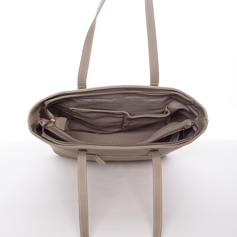 Elegantní kabelka přes rameno Kaia, světle oříšková