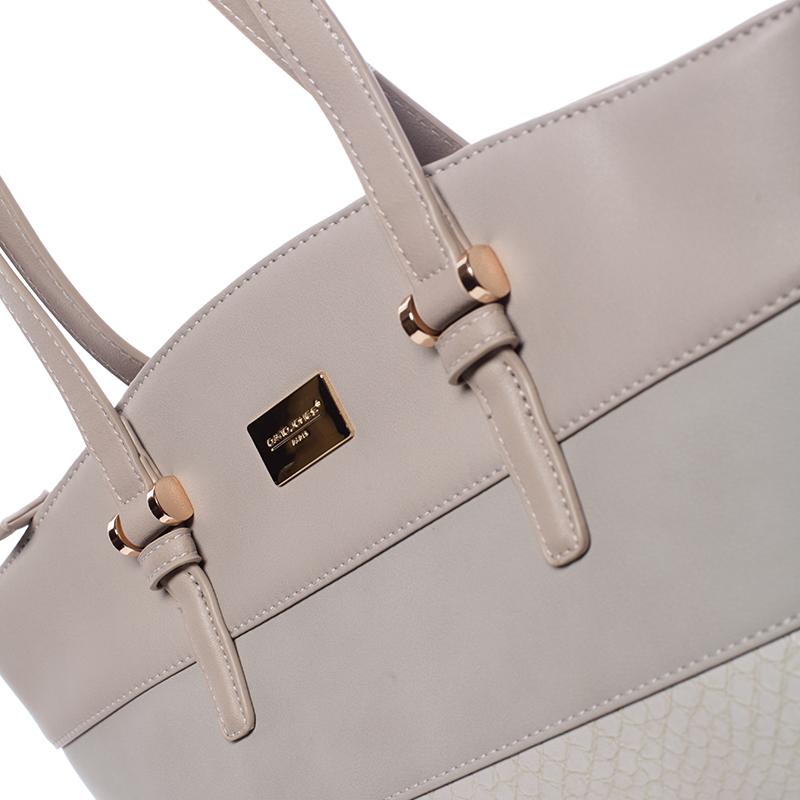 Elegantní kabelka přes rameno Kaia, světle šedá