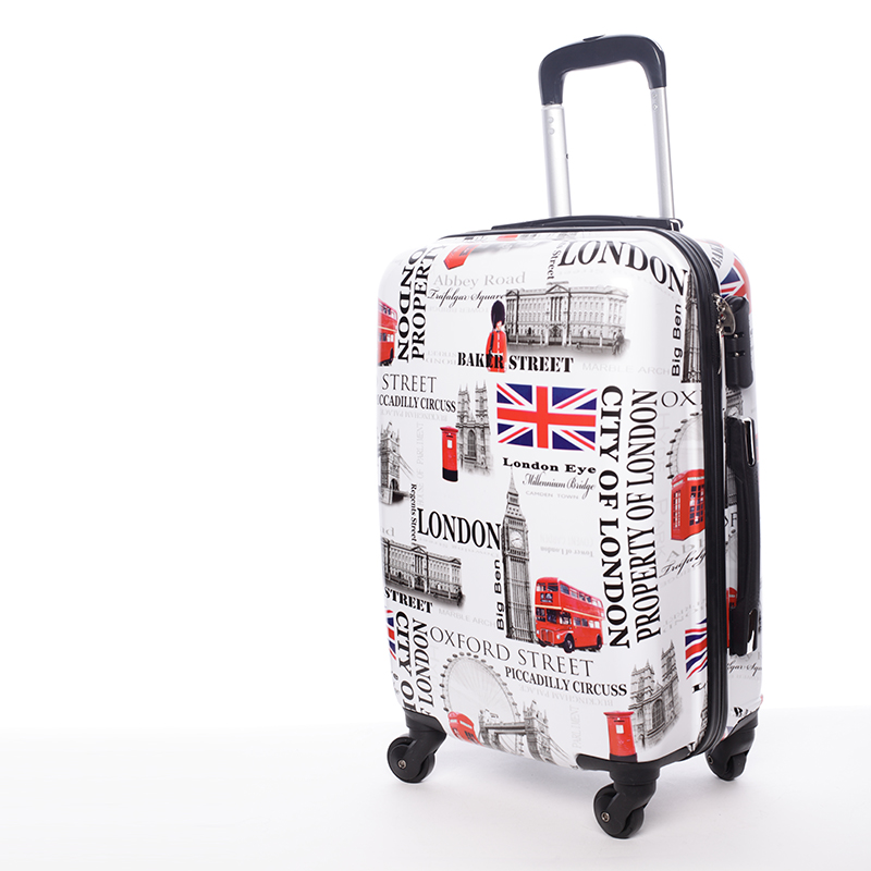 Cestovní kufr ROYAL UK, velikost I, 4 kolečka