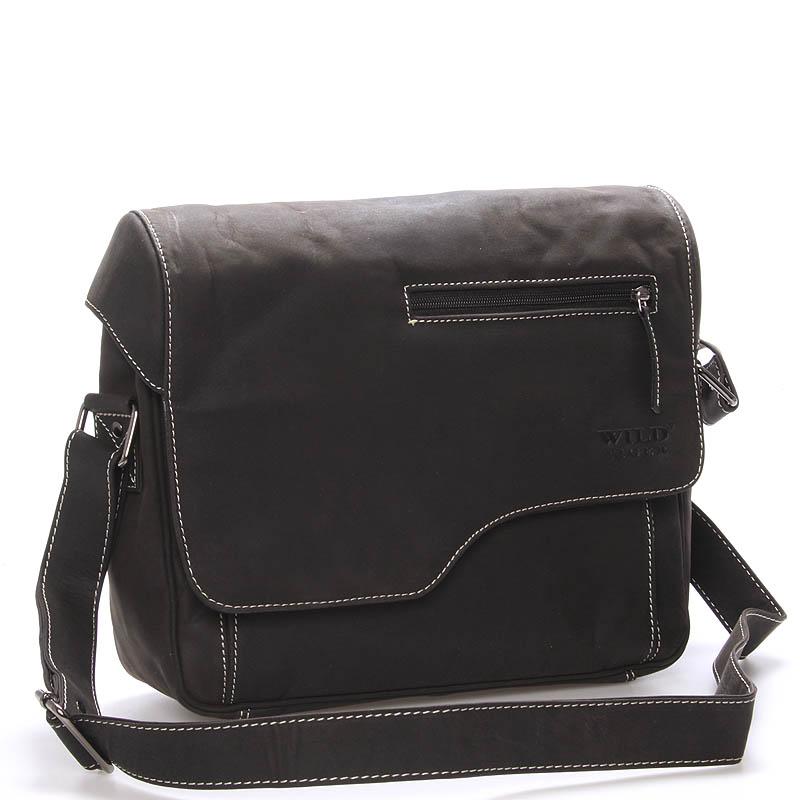 399720bc2 Pánská kožená taška přes rameno WILD Anthony, černá