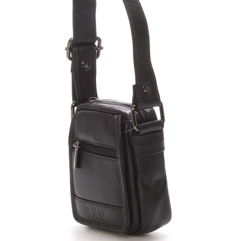 Pánská kožená dokladová taška WILD Glum černá