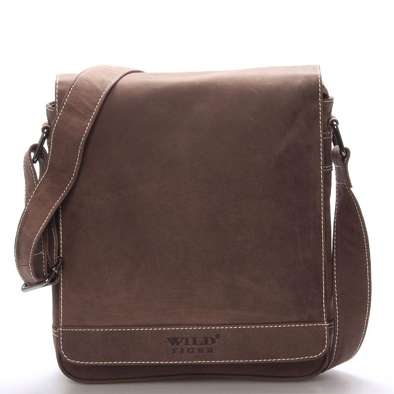 Pánská kožená dokladovka taška WILD Z3 hnědá