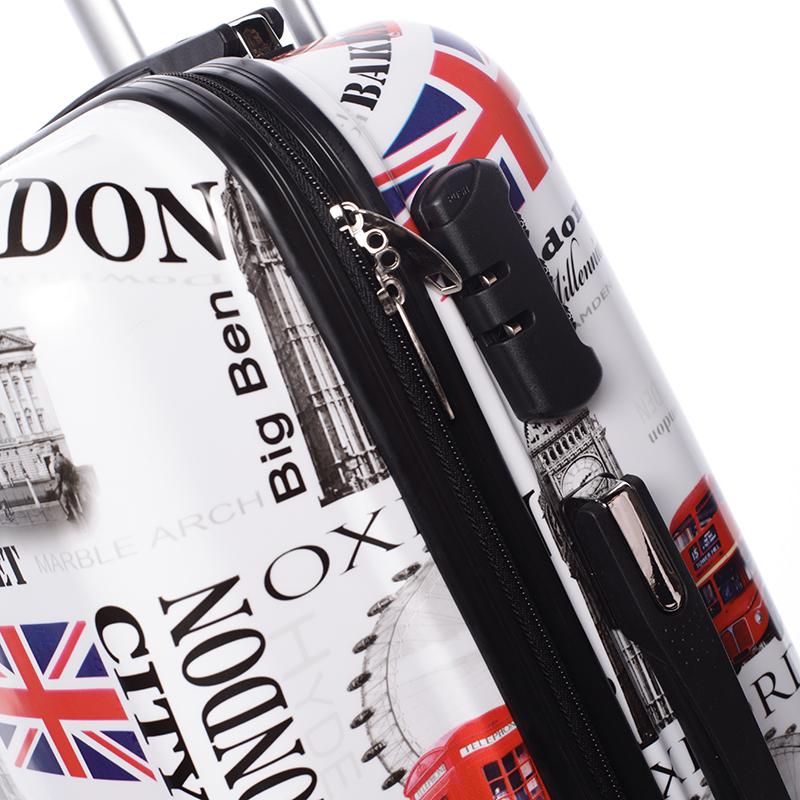 Cestovní kufr ROYAL UK, velikost II, 4 kolečka