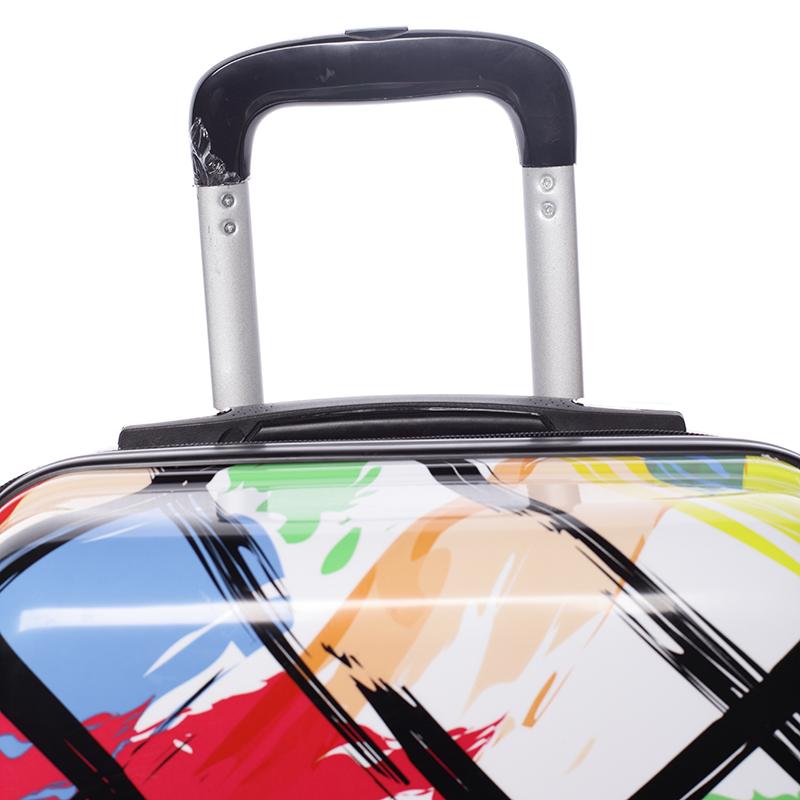 Cestovní kufr SUMMER STRIPES, velikost II, 4 kolečka