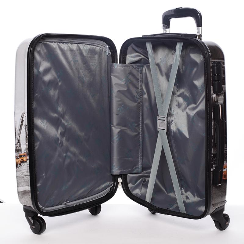 Cestovní kufr NEW YORK, velikost III, 4 kolečka