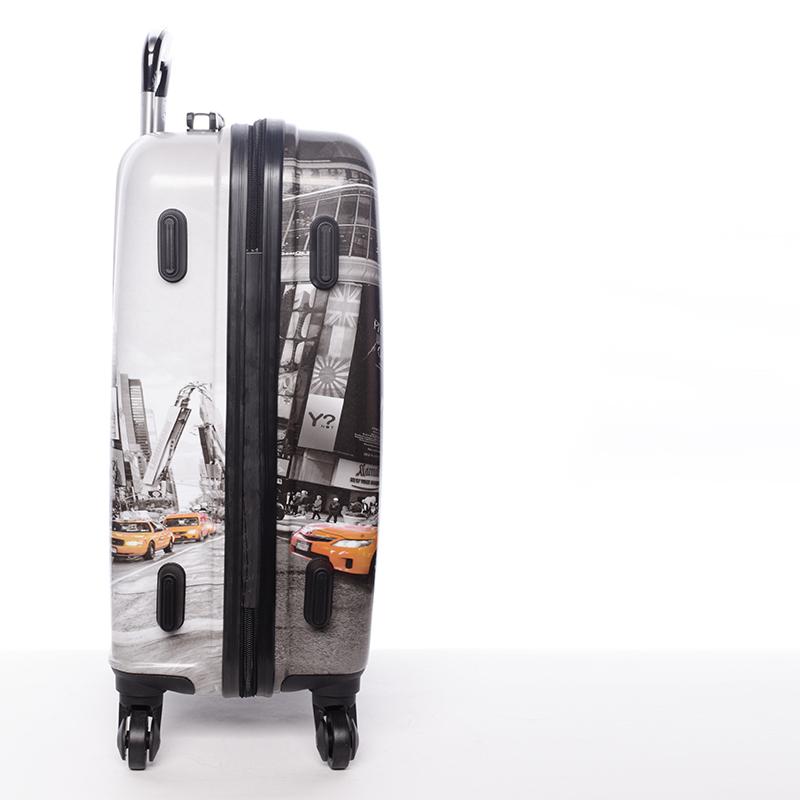 Cestovní kufr NEW YORK, velikost II, 4 kolečka