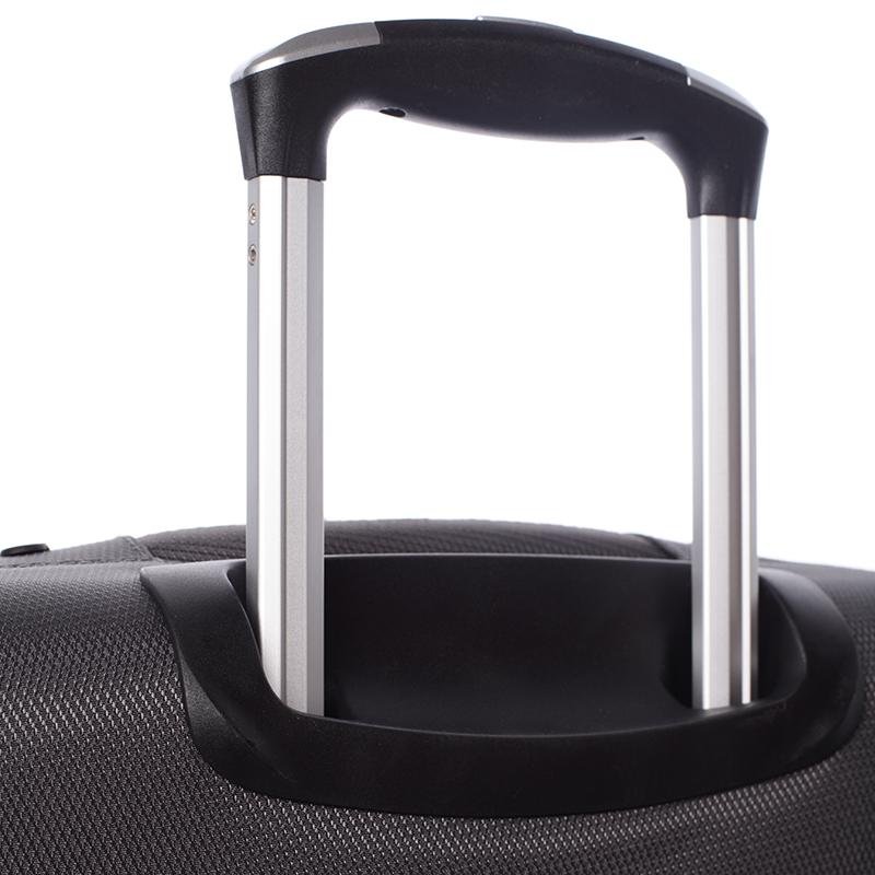Cestovní kufr velikost II, 4 kolečka, 3,0kg šedý