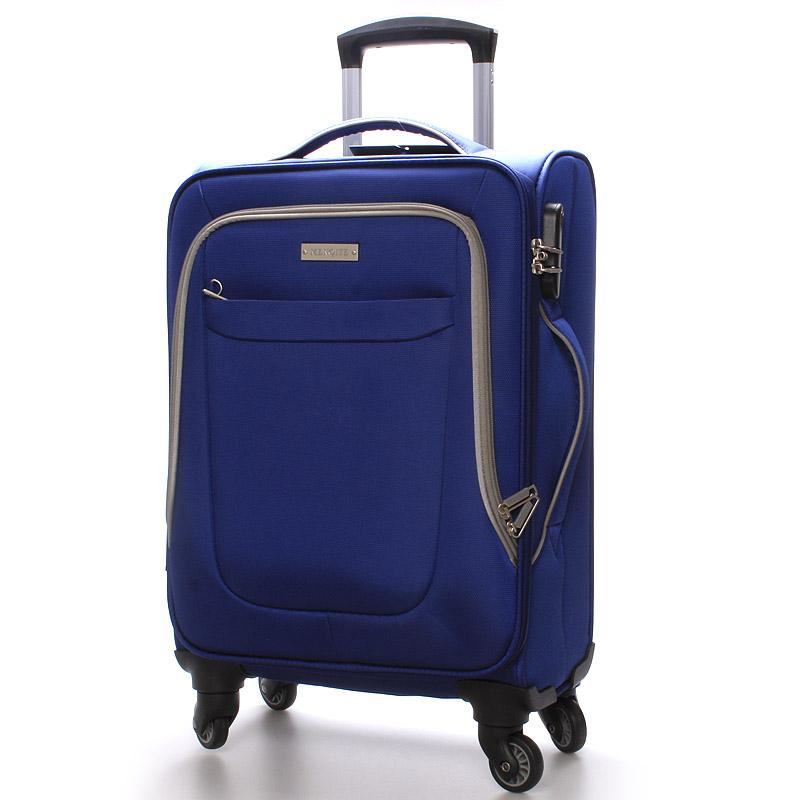 Cestovní kufr velikost I, 4 kolečka, 2,4kg modro-šedý