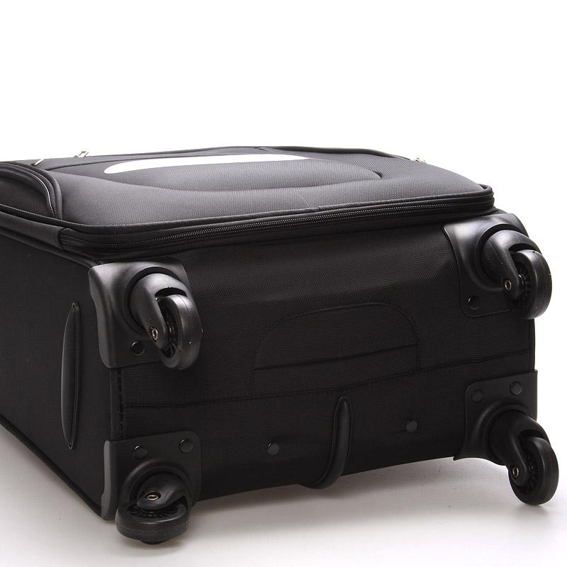 Cestovní kufr na 4 kolečkách, velikost II, 3,0kg černý