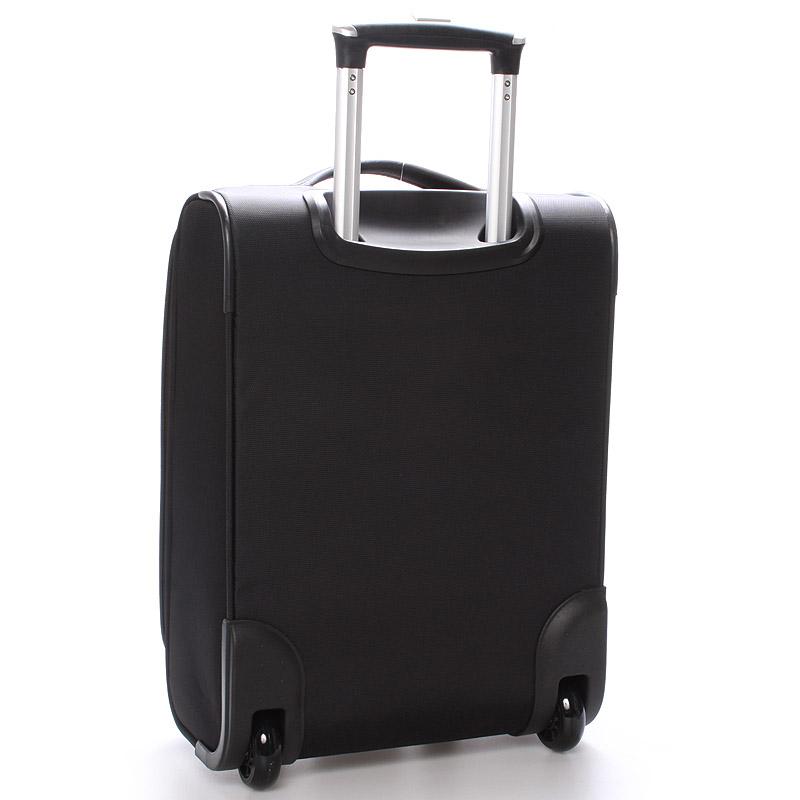Cestovní kufr LUFD velikost II, 2,8kg, 2 kolečka, černý