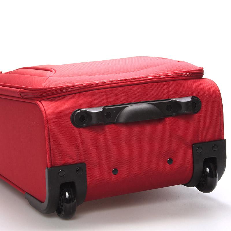 Cestovní kufr LUFD velikost I, 2,2kg, 2 kolečka, červený