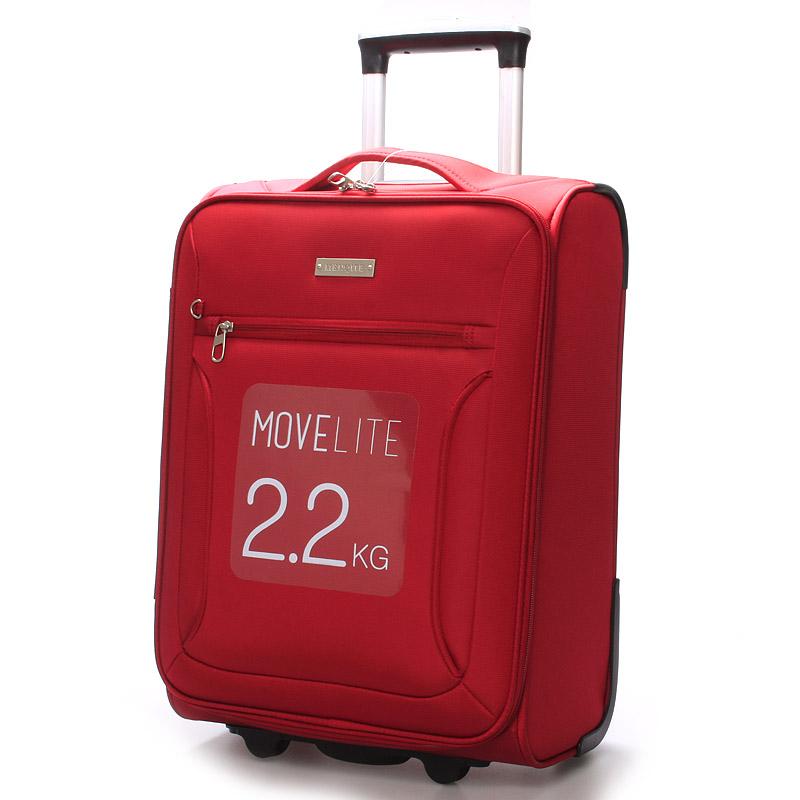 Cestovní kufr LUFD velikost II, 2,8kg, 2 kolečka, červený