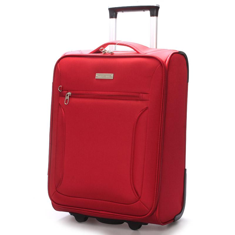 Cestovní kufr LUFD velikost III, 3,4kg, 2 kolečka, červený