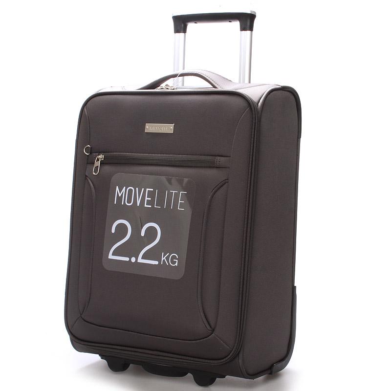Cestovní kufr LUFD velikost I, 2,2kg, 2 kolečka, šedý