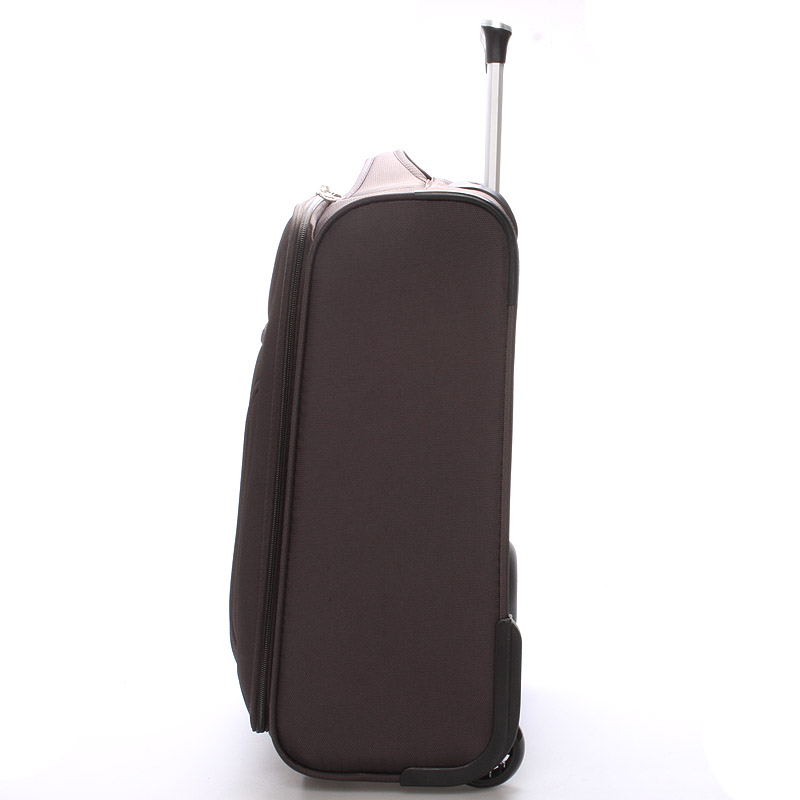Cestovní kufr LUFD velikost II, 2,8kg, 2 kolečka, hnědý
