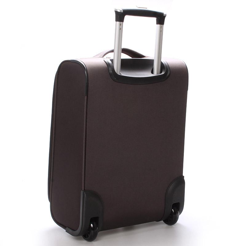 Cestovní kufr LUFD velikost III, 3,4kg, 2 kolečka, hnědý