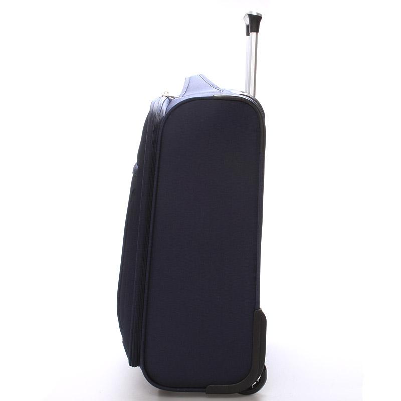 Cestovní kufr LUFD velikost I, 2,2kg, 2 kolečka, modrý