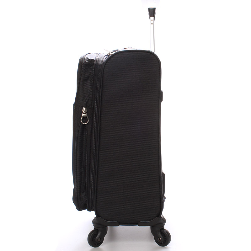 Cestovní kufr velikost I, 4 kolečka, 2,4 kg černý