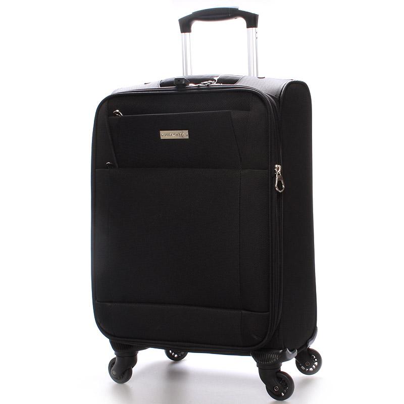 Cestovní kufr velikost II, 4 kolečka, 3,0 kg černý