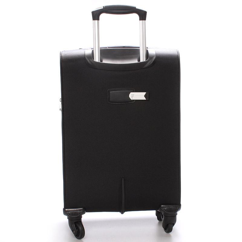 Cestovní kufr velikost III, 4 kolečka, 3,6kg černý