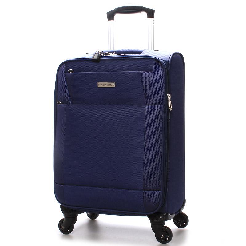 Cestovní kufr velikost II, 4 kolečka, 3,0 kg modrý