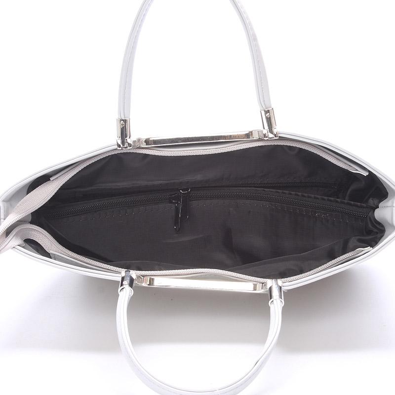 Elegantní kabelka přes ruku Jasmin, světle šedá