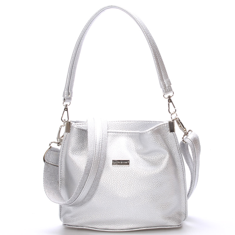 Trendy crossbody kabelka Millie, stříbrná